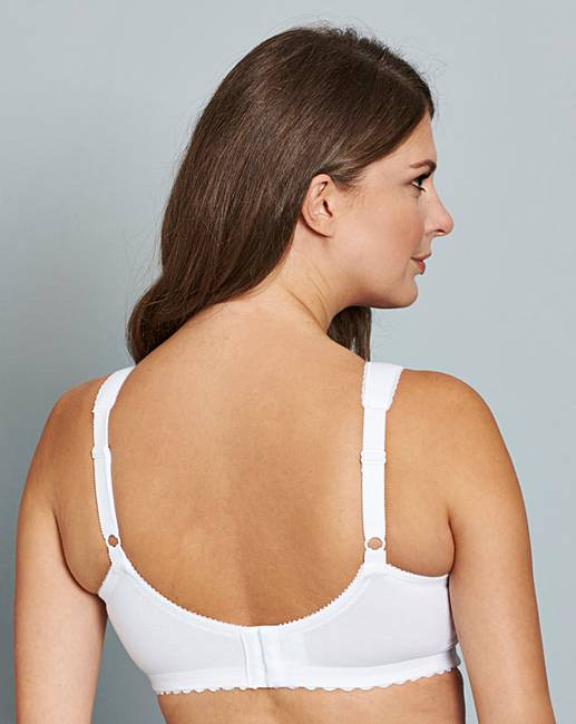 6de1c6c626 Glamorise Cotton Non Wired White Bra. Click to view  Glamorise  products.  Rollover image to magnify