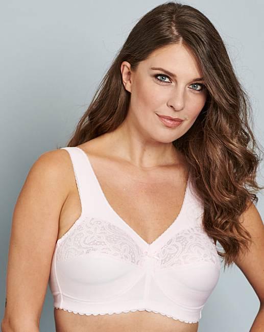 d162db9711 Glamorise Cotton Non Wired Pale Pink Bra