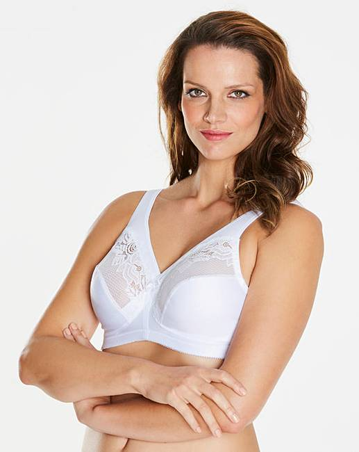 88d95dd6fe Glamorise Magic Lift Minimiser White Bra