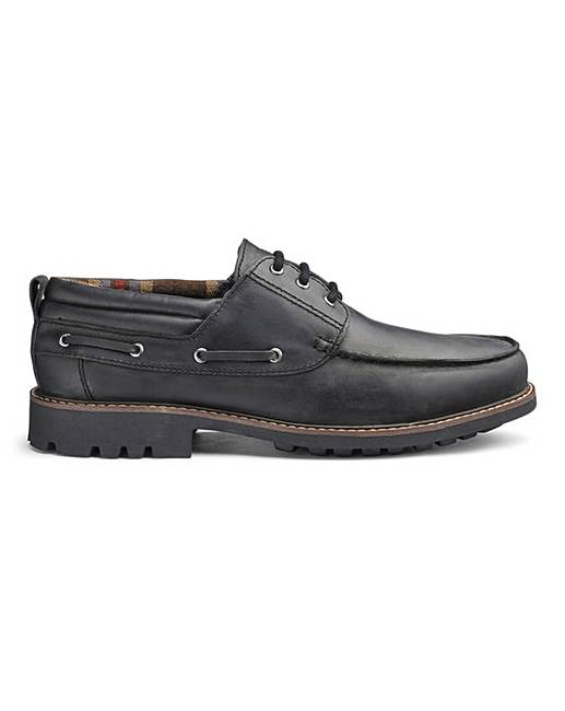 classic outlet for sale the cheapest Leather Cleated Boat Shoes Extra Wide