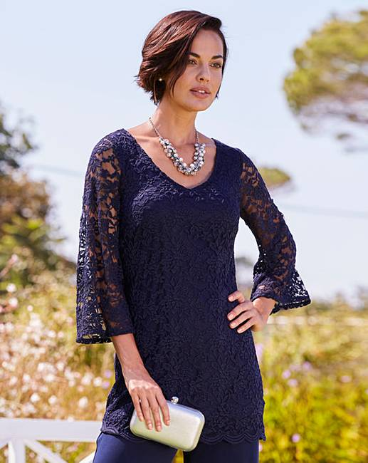 6ae91409587 Joanna Hope Lace Tunic | Oxendales