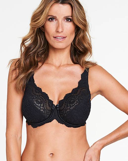 39ee4ea95b9a5 Playtex Flower Lace Black Wired Bra