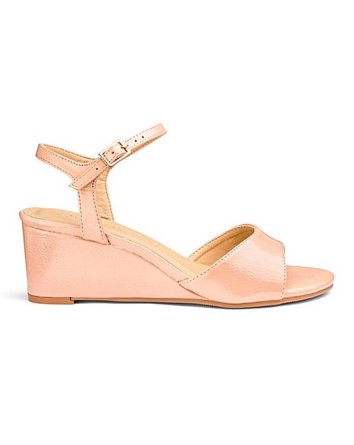 3c6ba70552a Wedge Slingback Sandals E Fit