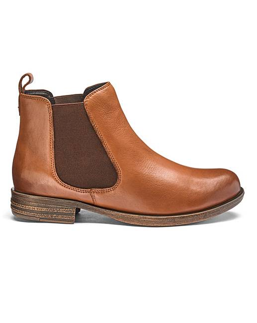 a9c68f544 Leather Chelsea Ankle Boots E Fit | Marisota