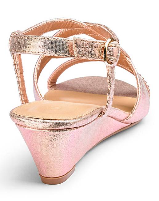 2555024546f Low Wedge Sandals EEE Fit