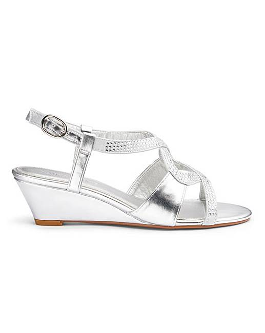 b369a3beb5f Low Wedge Sandals E Fit