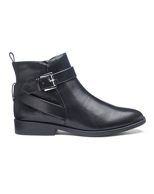 372151d9796 Strap And Buckle Ankle Boots EEE Fit