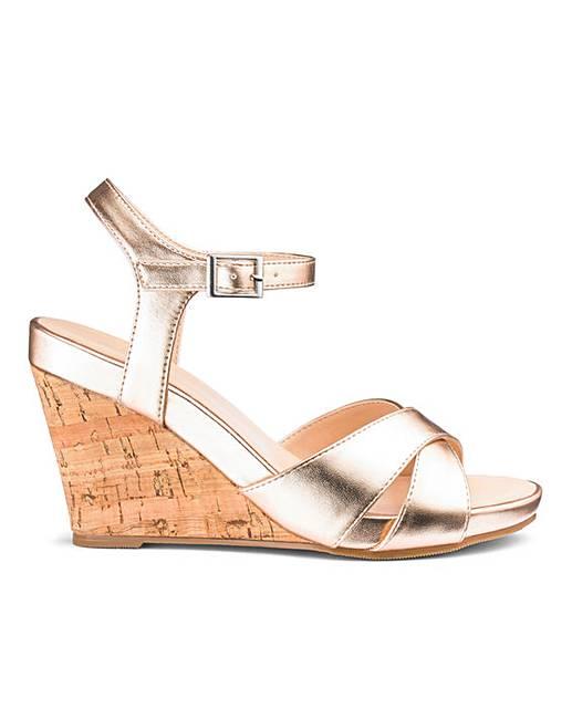 Sandals E World FitFashion Wedge Flexible NwOkn0PX8Z