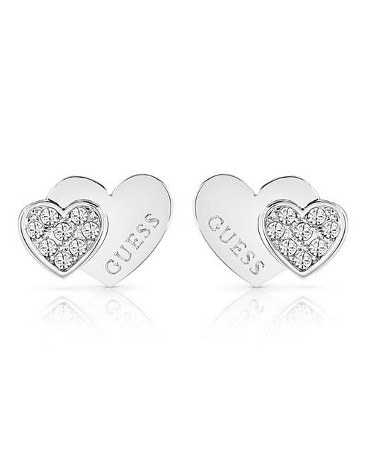 ac13937f2 Guess Me and You Double Heart Studs | Oxendales