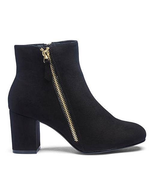 ff84233b1d4 Twin Zip Detail Ankle Boots EEE Fit
