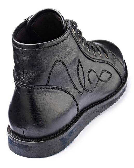 9c239ca9af0 Girls Lace Up School Boots Wide Fit. Click to view  The Kids Division   products. Rollover image to magnify
