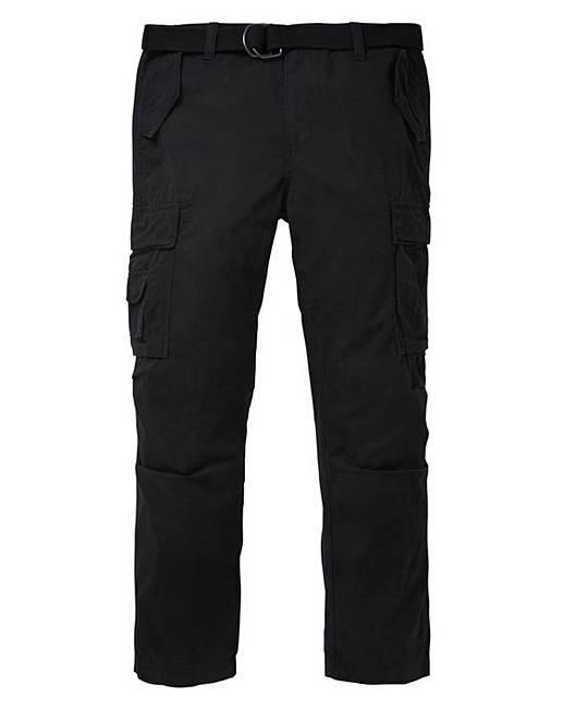 Discount Jacamo Black Ambrose Cargo Pant 33in for sale