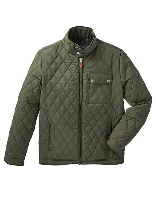 Jacamo Khaki Beattie Quilted Jacket Regular