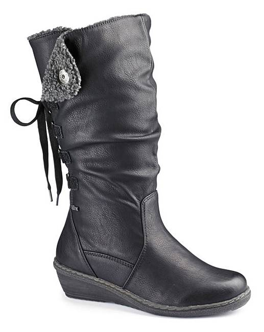 6f7fd2683b7 Relife Wedge Boots Standard Calf E Fit