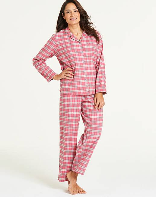 Pretty Secrets Flannel Button Through PJ  094a6d049