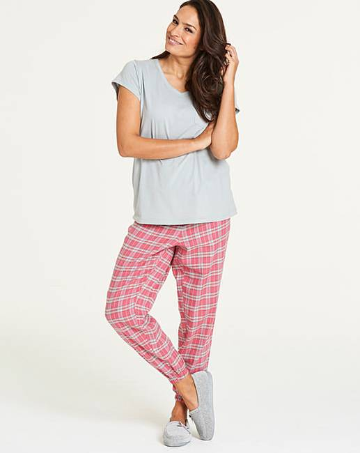 Pretty Secrets Flannel Cuffed PJ Set  2a1f18a32