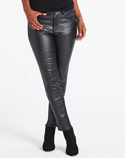 3e7f3450f1795 Sadie Black Glitter Slim Leg Jeans | J D Williams