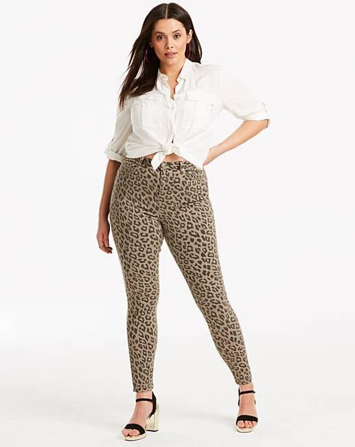 683bd0baedc9 Leopard Chloe High Waist Skinny Jeans | Simply Be