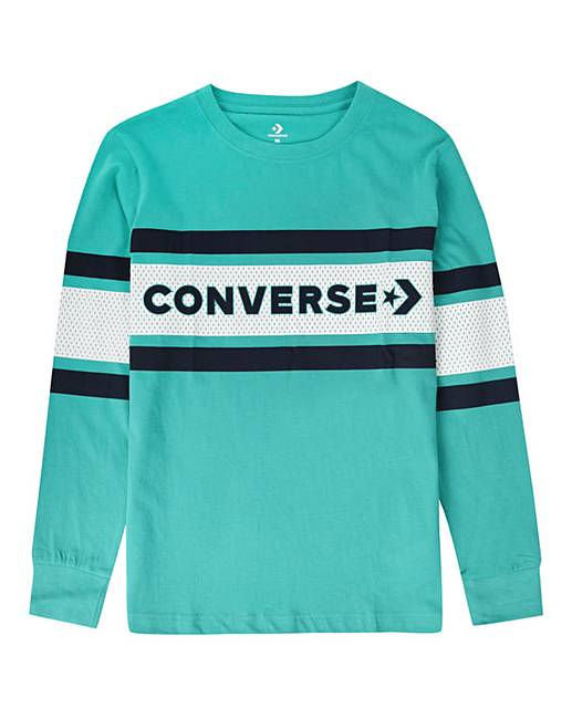 bb84b4ef3 Converse Boys Graphic Stripe L/S T-Shirt