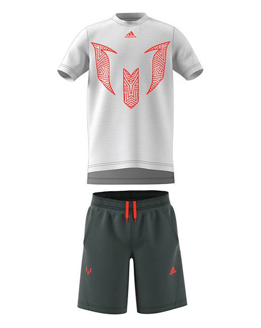 81f5da18 adidas Younger Boys Messi Summer Set | J D Williams
