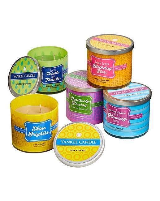 Set 5 Yankee Candle Sentiment Jars