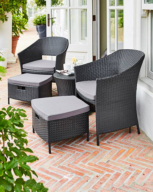 43450ac16fb4 Hereford 5 Piece Rattan Egg Bistro Set