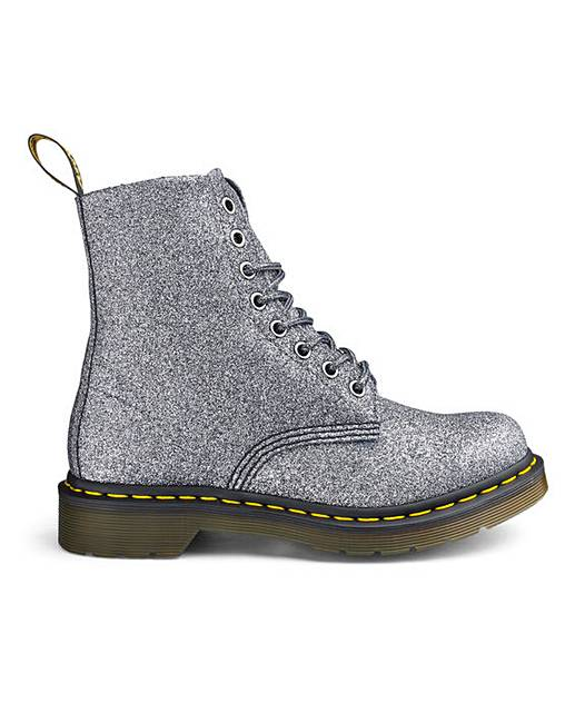 Dr Martens 8 Eyelet Boot Glitter Pu by Simply Be