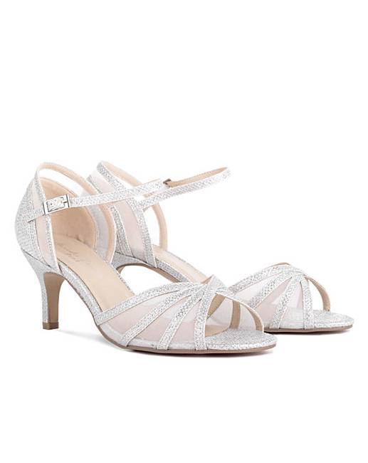 27aca1ed0c08 Paradox London Sonya Mesh Insert Glitter Wide  E  Fit Sandals