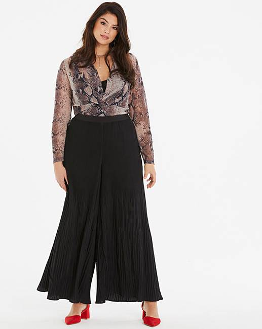 fb8d8cbed466d Pleated Wide Leg Trousers Regular   Fashion World