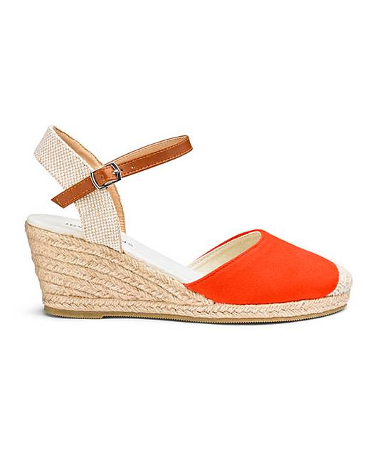 eb68bcd3f2c4 Espadrille Wedge Sandals E Fit