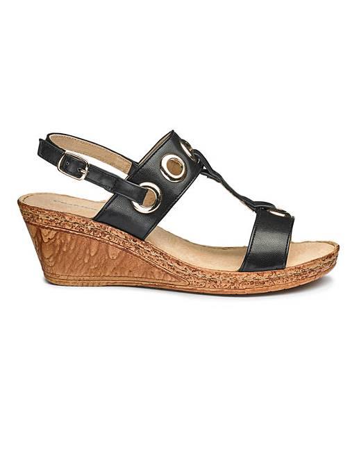 Walk Wedge Fit Sandals E Cushion k0wO8nP