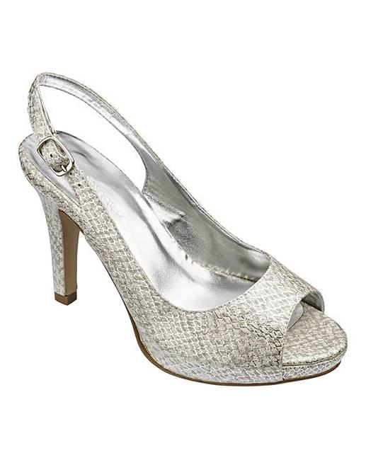 ee8baf36b52 Heavenly Soles Peep Toe Shoes EEE Fit