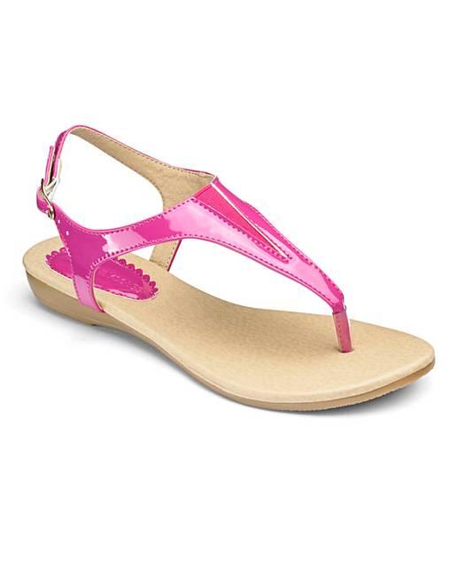 a7b639f7c0b Heavenly Soles Toe Post Sandals EEE Fit