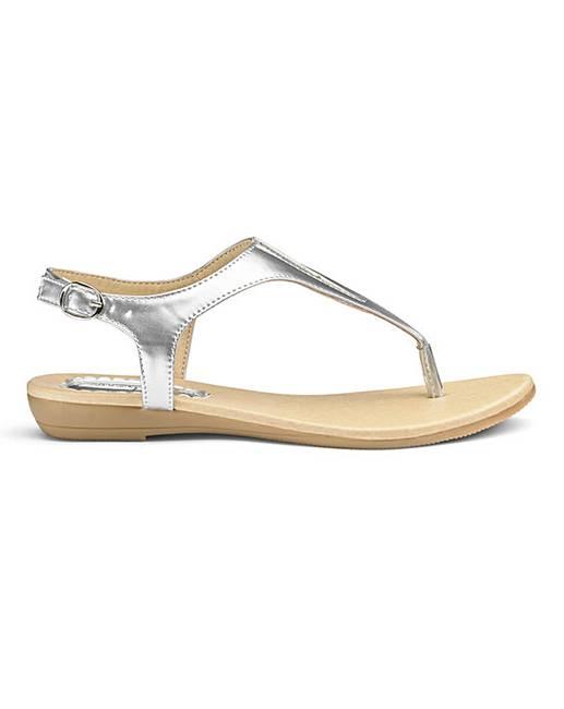 a336e30eb47 Heavenly Soles Toe Post Sandals EEE Fit