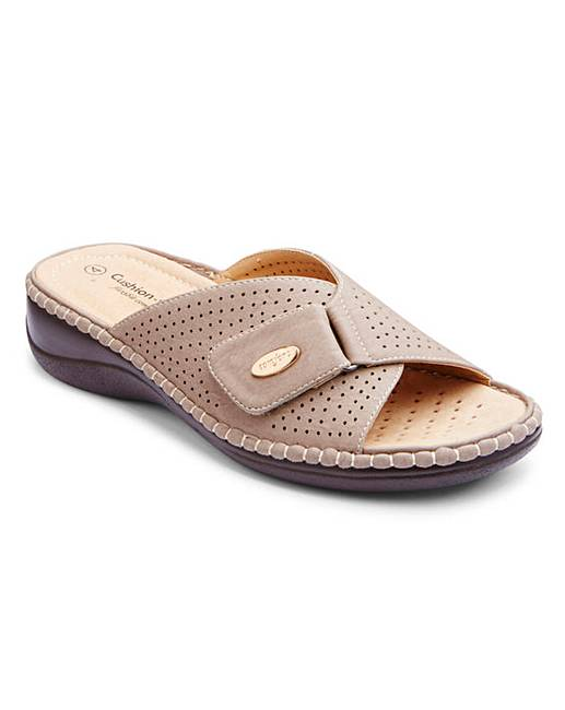 ed09278c1fa6 Cushion Walk Touch   Close Open Toe Mule Sandals Extra Wide EEE Fit