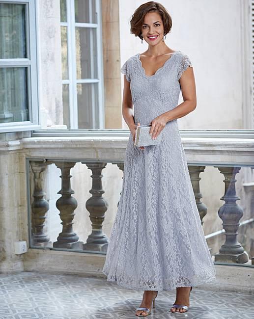 b16f32d2ac8f Joanna Hope Maxi Scallop Lace Dress   J D Williams