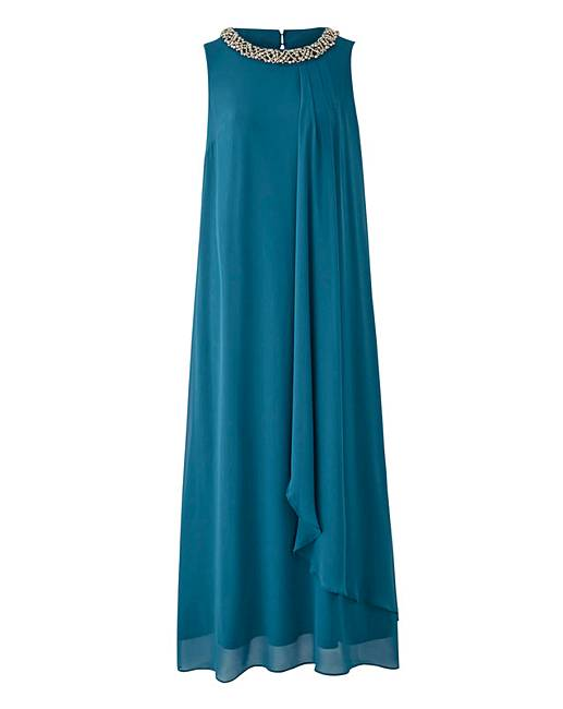 17bc883f6b584 Joanna Hope Bead Trim Maxi Dress