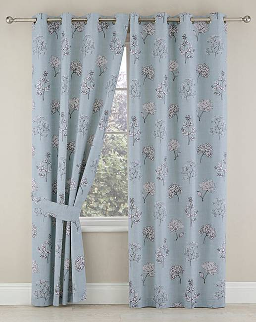 911a7cdec814c Tiffany Blackout Lined Eyelet Curtains   J D Williams