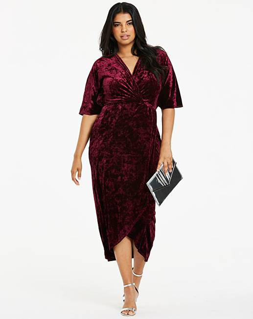 8abe596bec5 Joanna Hope Berry Velvet Maxi Dress | Simply Be