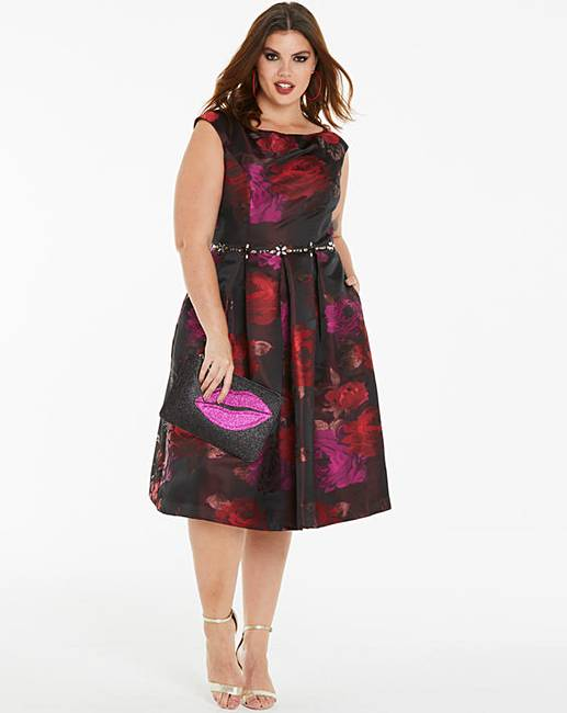 Joanna Hope Jacquard Prom Dress  270b7f2dd