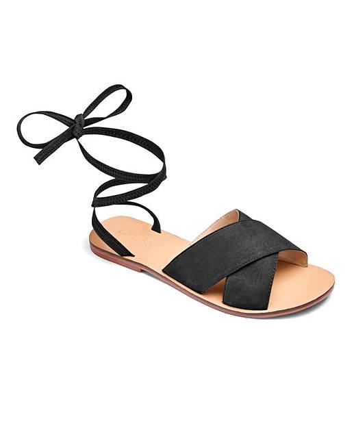 Sole Fit Leather Tie Sandals Diva Eee Up iXukPZ
