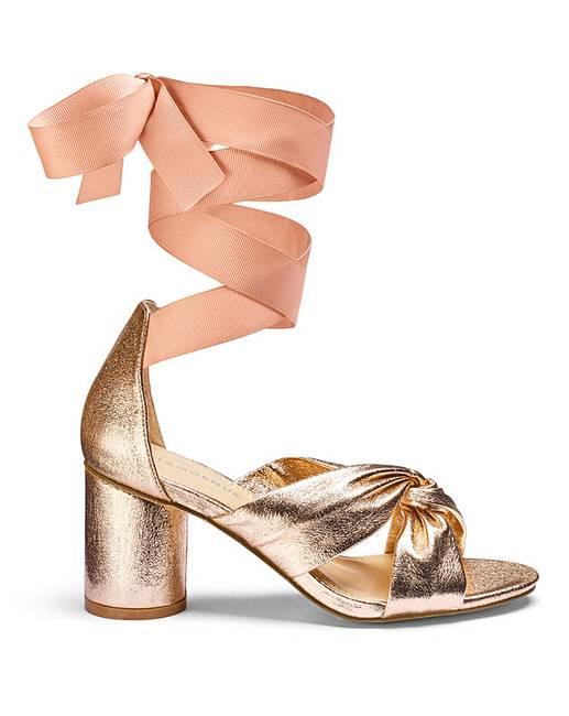 Sandal Heeled Fit Tie Glamorous Up D KTFJlc1