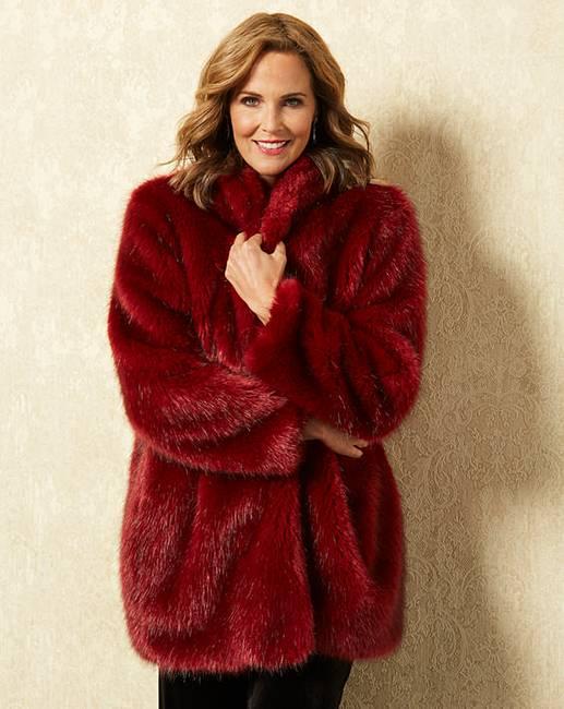 aea00b42a Joanna Hope Faux Fur Coat