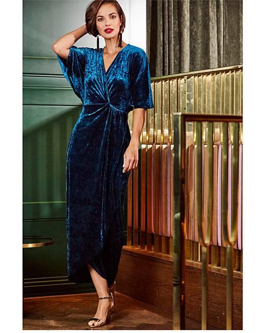 b784b588989b Joanna Hope Teal Velvet Maxi Dress | Oxendales