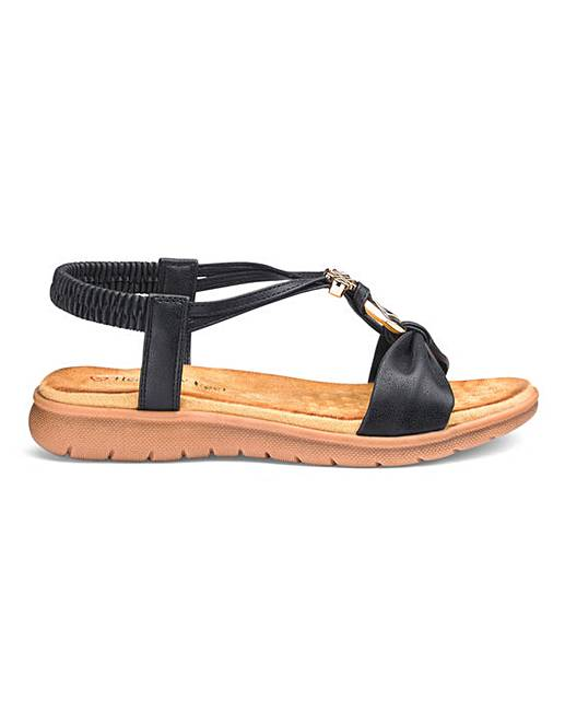 ef7132f5f9940 Heavenly Feet Strappy Sandals E Fit | J D Williams