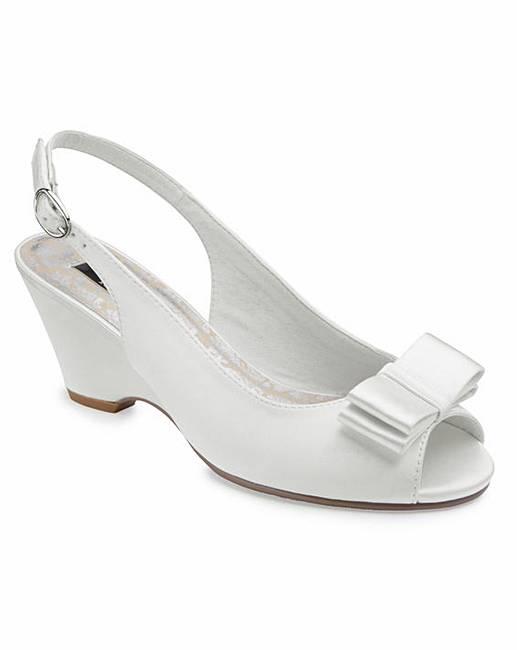 b32663214c JOANNA HOPE Peep Toe Wedge Shoes E Fit | Fashion World
