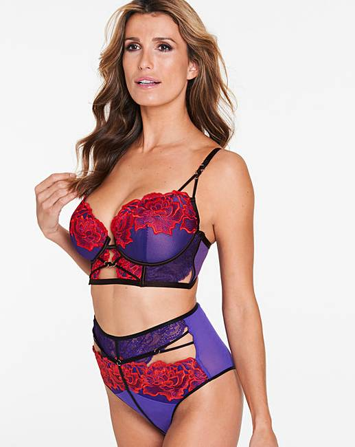 bb5381505fd Ann Summers Azealia Purple Red Long Bra