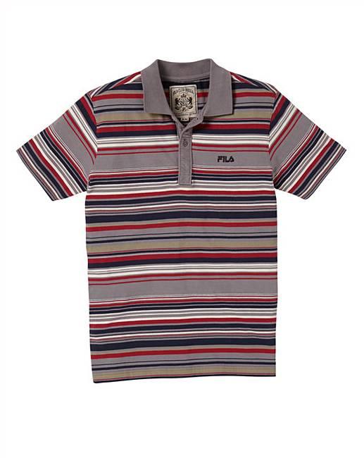 b1aeeca1cf Fila Malco Striped Polo Shirt | Oxendales