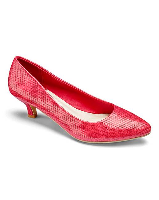 Heavenly Soles Kitten Heel Court Shoes Standard D Fit supplier