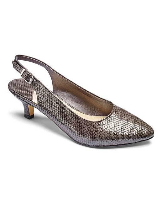 10fc0185226 Heavenly Soles Slingback Shoes E Fit